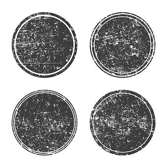 Zestaw okrągłe czarne ramki grunge