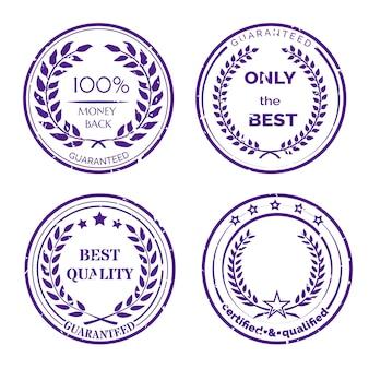 Zestaw okrągłych etykiet gwarancyjnych