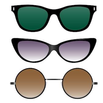 Zestaw okularów przeciwsłonecznych w stylu retro