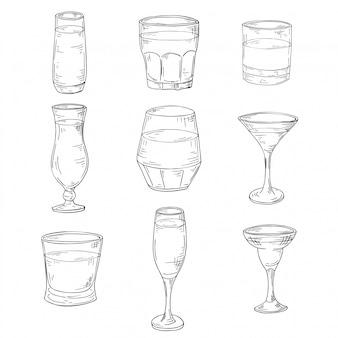 Zestaw okularów szkicu