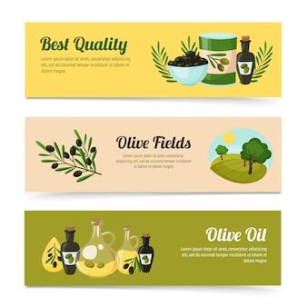 Zestaw oliwek banery