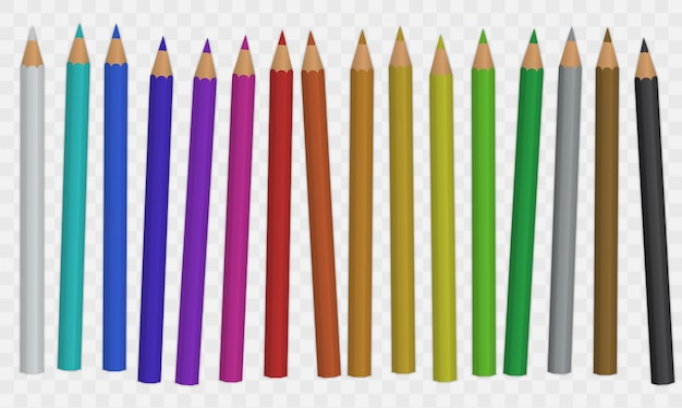 Zestaw ołówka kolorowego