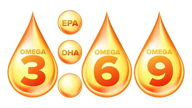 Zestaw omega fatty acid, epa, dha drops