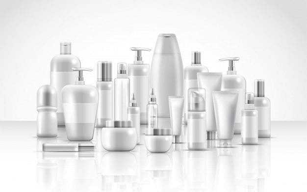 Zestaw opakowań do pielęgnacji skóry naturalnych produktów kosmetycznych