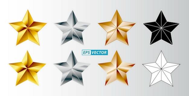 Zestaw opinii klientów 5 gwiazdek na białym tle, łatwe do modyfikacji