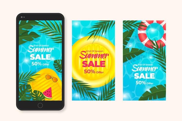 Zestaw opowiadań instagramowych na koniec sezonu letniej sprzedaży