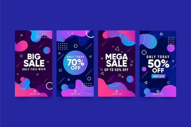 Zestaw opowiadań instagramowych sprzedaży gradientowej