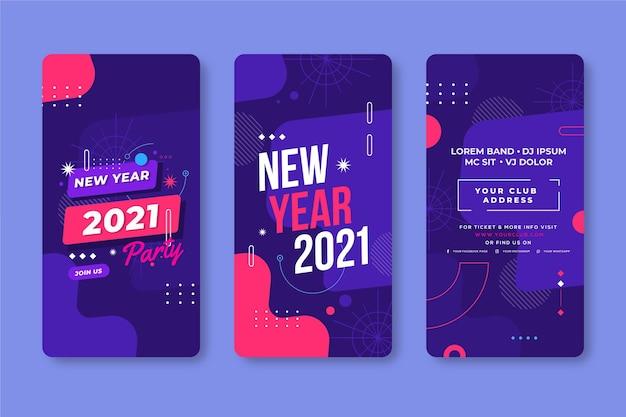 Zestaw opowiadań na instagramie nowego roku 2021