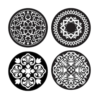 Zestaw orientalnych ornamentów do wycinania laserowego