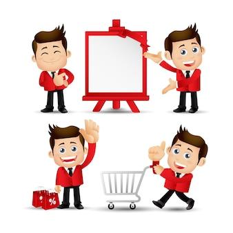 Zestaw osób - biznes - sprzedaż