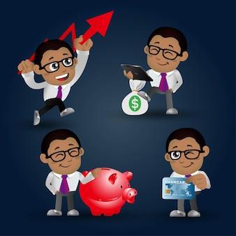Zestaw osób. biznes. zestaw finansów biznesmen.