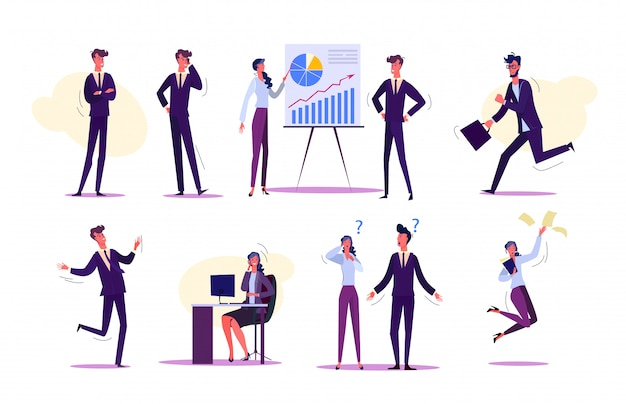 Zestaw osób interakcji w pracy