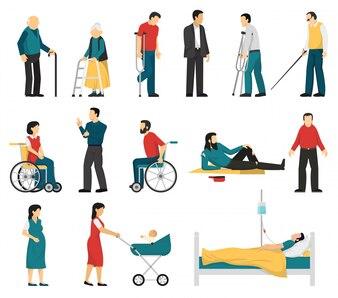 Zestaw osób niepełnosprawnych
