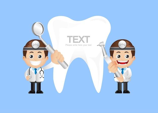 Zestaw osób - zawód - dentysta