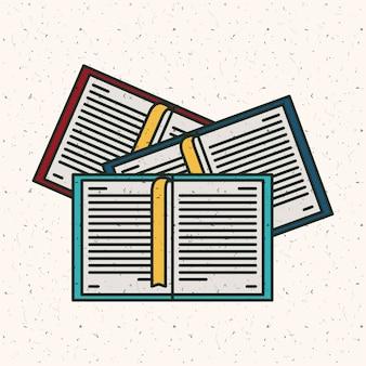 Zestaw otwartych książek
