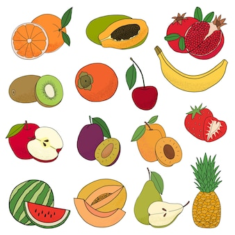 Zestaw owoców