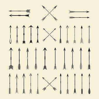 Zestaw ozdobny vintage arrow