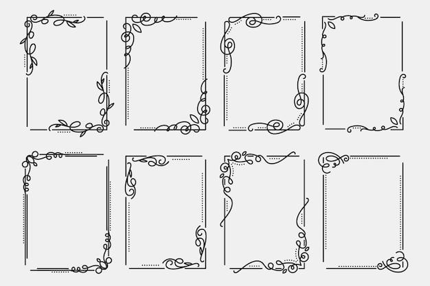 Zestaw ozdobnych ramek kaligraficznych