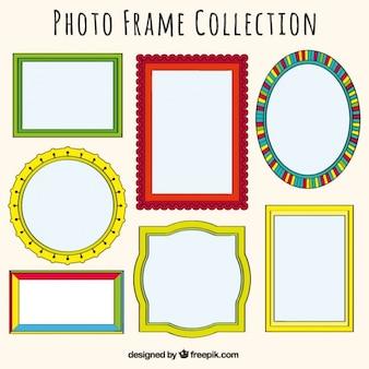Zestaw ozdobnych ramek zdjęcia