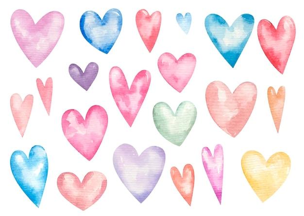 Zestaw ozdobnych serc na walentynki