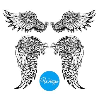 Zestaw ozdobnych skrzydeł