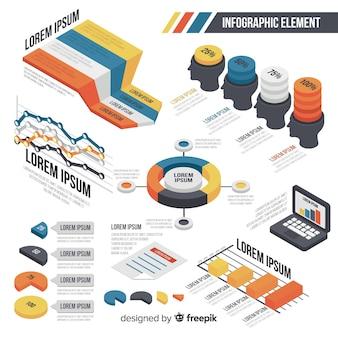 Zestaw płaskich infographic elementów