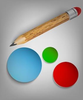 Zestaw papeterii gumka do ołówka i linijka do szkła