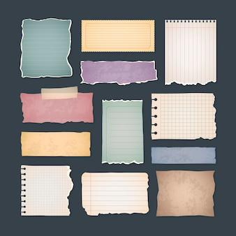 Zestaw papierów vintage notatnik