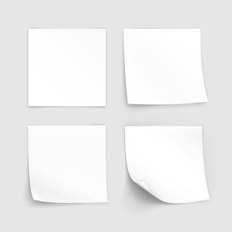 Zestaw papierowych naklejek sticky note post memo label