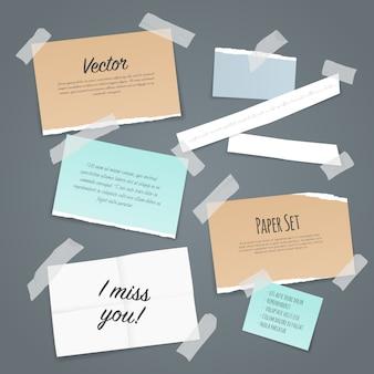 Zestaw papierowych taśm samoprzylepnych