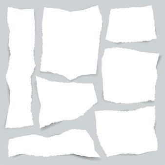 Zestaw papieru podarte krawędzie.