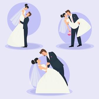 Zestaw par ślubnych