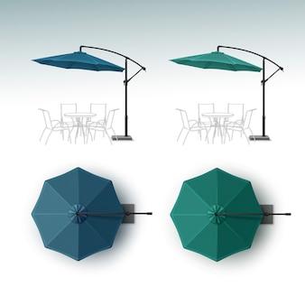 Zestaw parasola do restauracji na świeżym powietrzu beach cafe