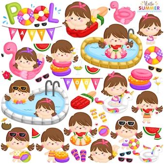 Zestaw party girl pool