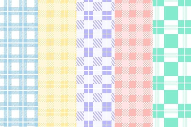 Zestaw pastelowy wzór w kratkę