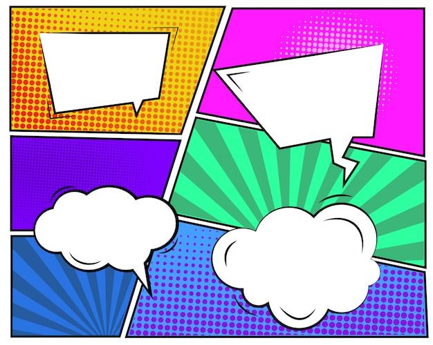 Zestaw pęcherzyków kreskówka chmura