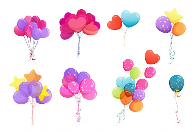 Zestaw pęczków balonu