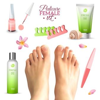 Zestaw pedicure female feet