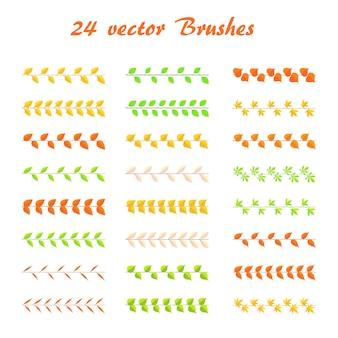 Zestaw pędzli gałązek różnych kolorów i typów