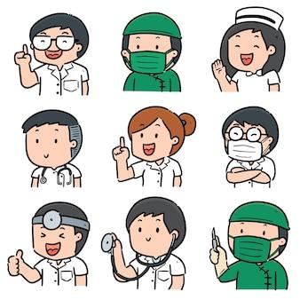 Zestaw personelu medycznego