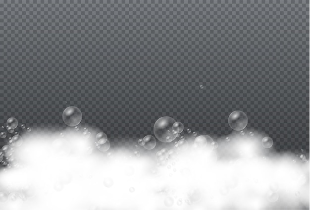 Zestaw pianki do kąpieli z bąbelkami szamponu żel mydlany lub bąbelki szamponu nakładają teksturę mydlin