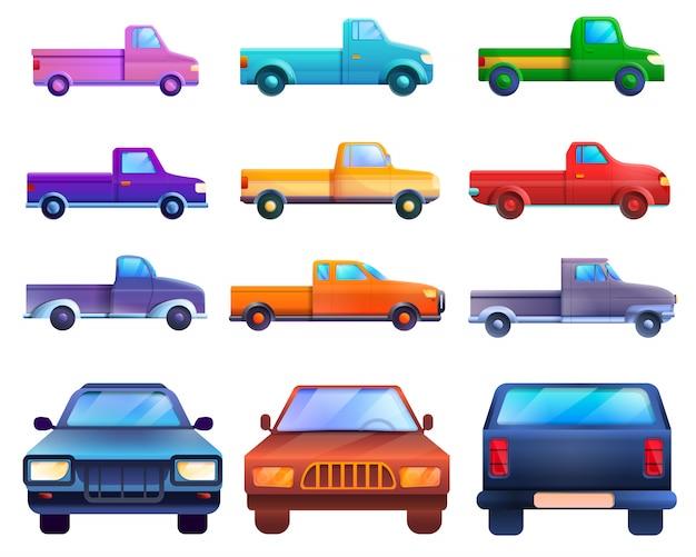 Zestaw pickupów, styl kreskówki