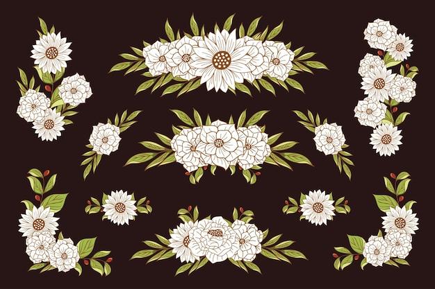 Zestaw piękny kwiatowy bukiet