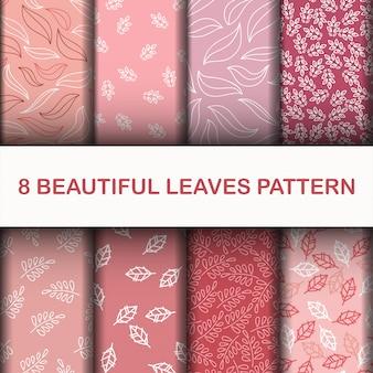 Zestaw piękny wzór liści