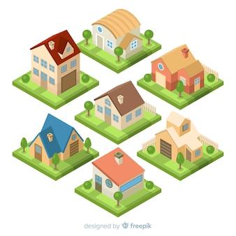 Zestaw pięknych domów