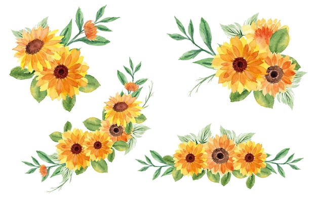 Zestaw pięknych letnich kwiatów bukiet