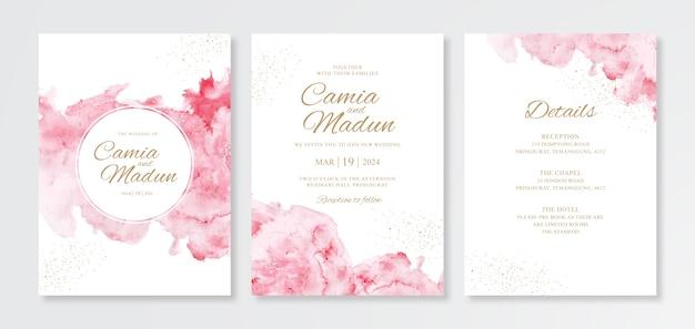 Zestaw pięknych zaproszeń ślubnych