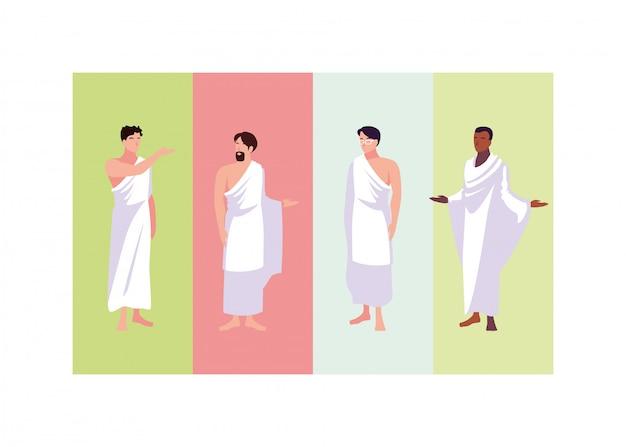 Zestaw pielgrzymek pielgrzymek mężczyzn