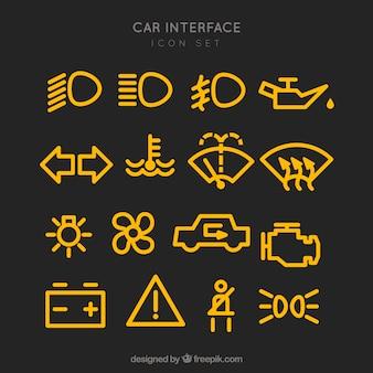 Zestaw piktogramów samochodów