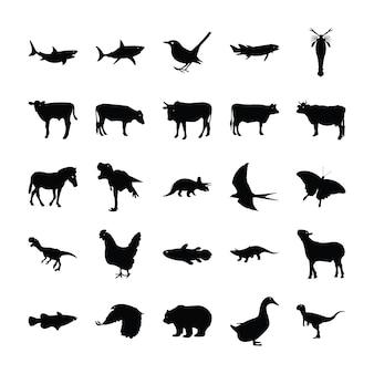 Zestaw piktogramów zwierząt